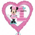 "palloncino 18"" mylar Minnie 1st bday girl"