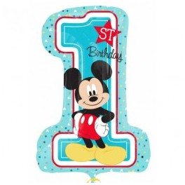 palloncino Super Shape mylar Mickey First Birthday