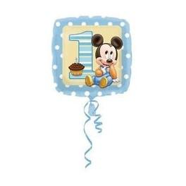 "palloncino 18"" mylar Mickey 1st bday boy"