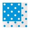 20 Tovaglioli 33 x 33 cm Pois azzurro