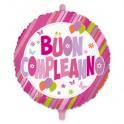 """Palloncino Mylar 18 """"Buon Compleanno Rosa"""