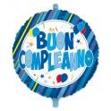 """Palloncino Mylar 18 """"Buon Compleanno celeste"""