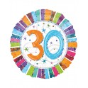 "palloncino 18"" mylar radiant bday 30"