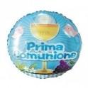 """palloncino 18"""" mylar Prima Comunione blu"""