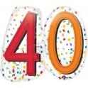 "Pallone foil Supershape 25"" - 63 cm Rainbow Birthday Nr 40 1 pz"