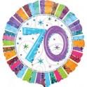 "palloncino 18"" mylar 70 anni radiant"
