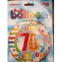 """palloncino 18"""" mylar 70 anni"""