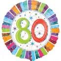 "palloncino 18"" mylar 80 anni radiant"