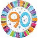 "palloncino 18"" mylar 90 anni radiant"