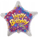 BIRTHDAY STREAMERS STAR - PALLONCINO MYLAR