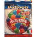 """Palloncino Mylar 18"""" Congratulazioni"""