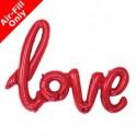 palloncino Super Shape Mylar Love Rosso