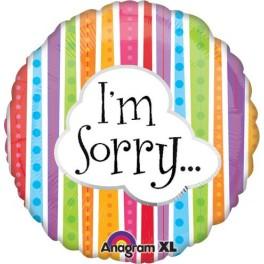 "palloncino 18"" mylar Sorry"