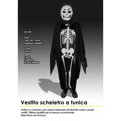 Vestito scheletro adulto