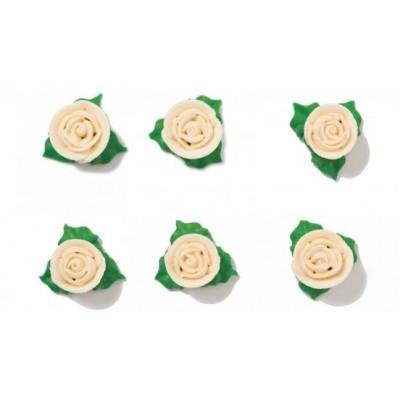 Rosa bianca  con foglie