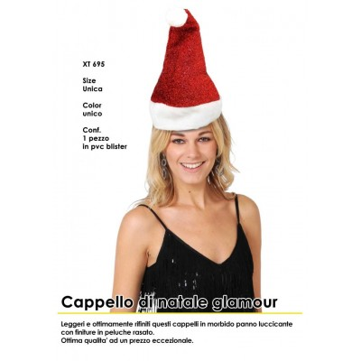Cappello di natale glamour