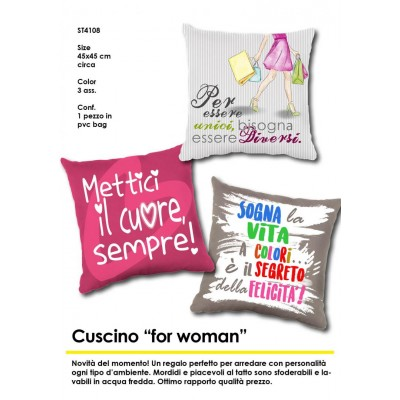 "Cuscino ""for woman"""