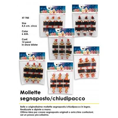 Mollette chiudipacco / segnaposto