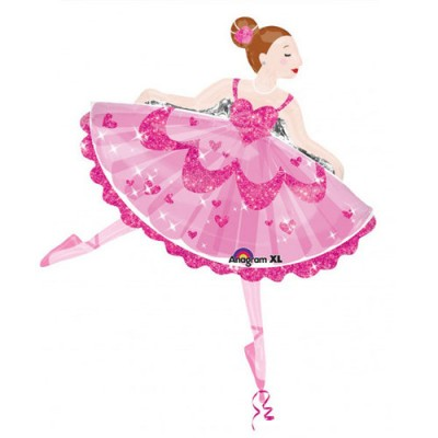 Palloncino Super Shape mylar Pink Sparkle