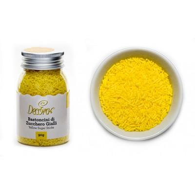 Bastoncini di zucchero giallo