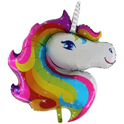 Palloncino Super Shape mylar Unicorno