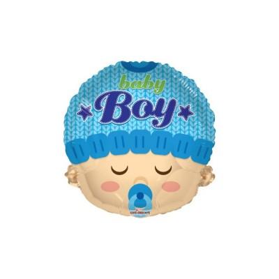 "palloncino 18"" mylar baby Boy Head"