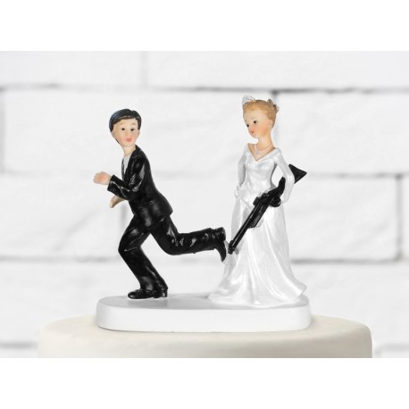 Cake topper sposa con carabina