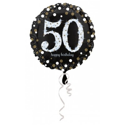 "Palloncino mylar 17"" Birthday 50"