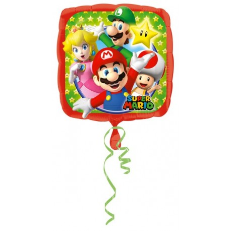 "Palloncino mylar 17"" Super Mario"