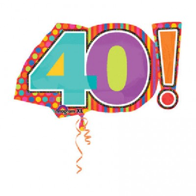 Mylar Birthday Dots 40