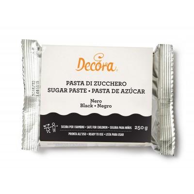 Pasta di zucchero nero Decora 250 gr.