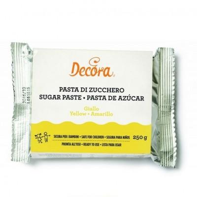Pasta di zucchero gialla Decora 250 gr.