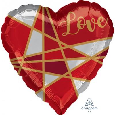 "Palloncino mylar 17"" love line"