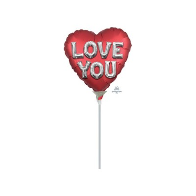 "Palloncino mylar 9""love you satin"