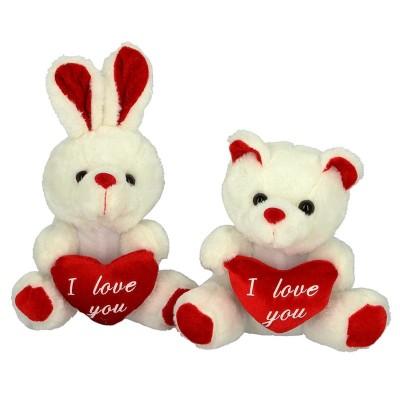 Coniglio e orsetto cuore I LOVE YOU