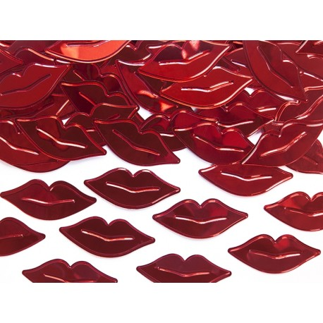 Confetti decorativi labbra