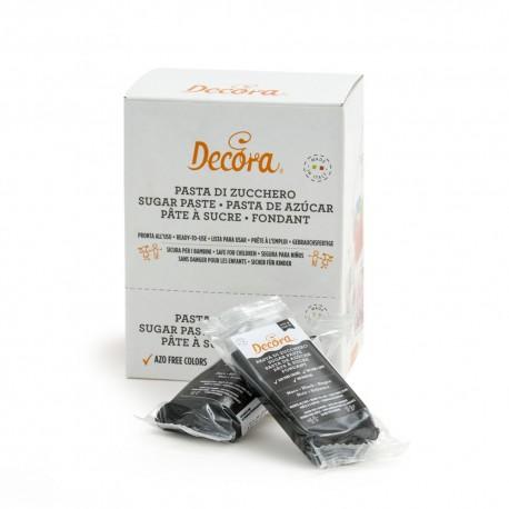 Pasta di zucchero nero 100gr Decora
