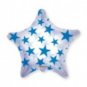 """Royal Blue Patterned Star Clear View 22"""""""
