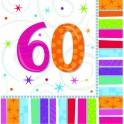 Tovaglioli Radiant Buon Compleanno 60